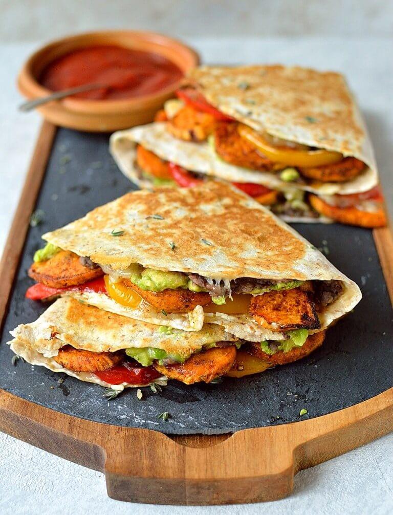 24. Loaded Veggie Quesadillas