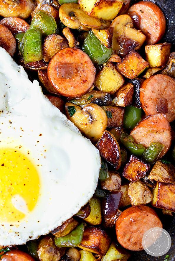 24. Sausage, Pepper and Mushroom Hash