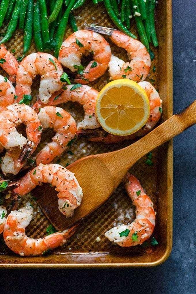 #25 Garlic Butter Shrimp and Green Beans