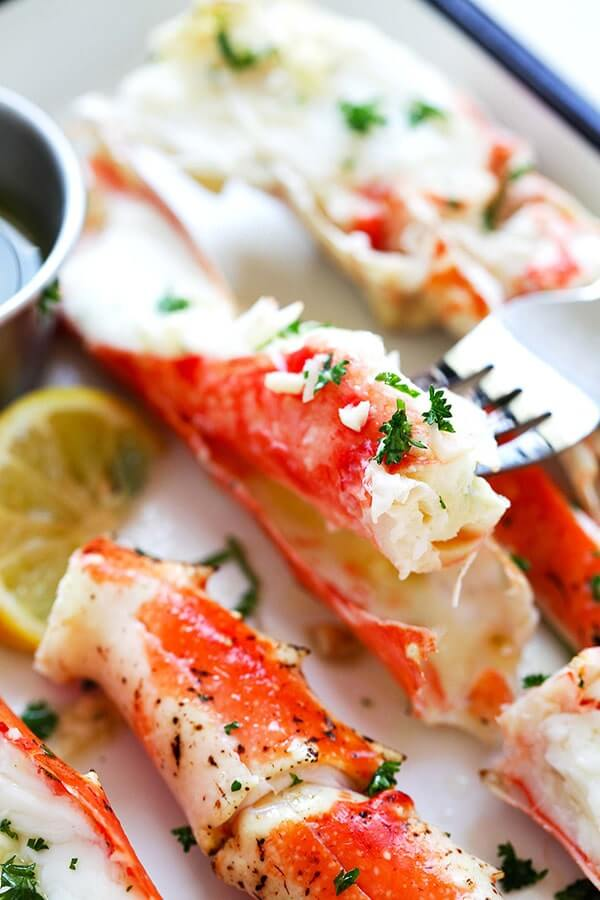 #25 Garlic Lemon Butter Crab Legs