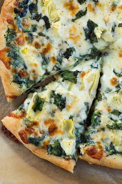 29 Spinach Artichoke Pizza