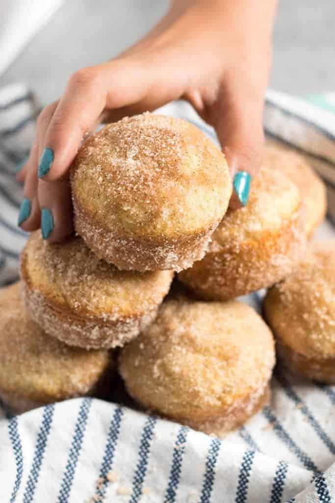 3 Cinnamon Sugar Donut Muffins