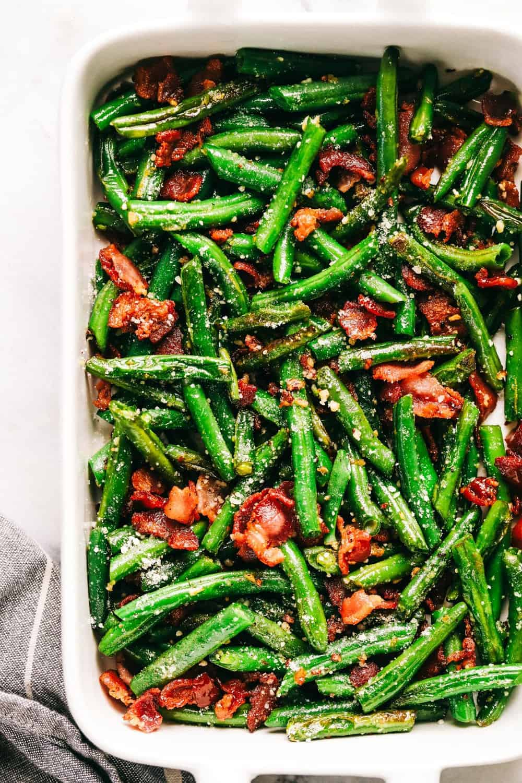 #3 Garlic Parmesan Green Beans with Bacon