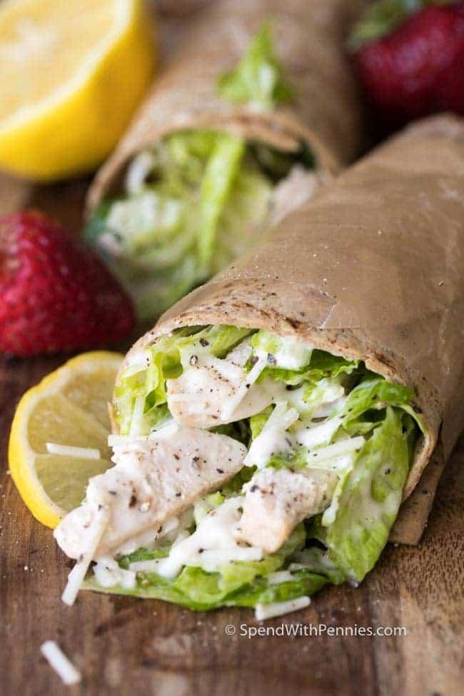 #3 Grilled Chicken Caesar Salad Wraps