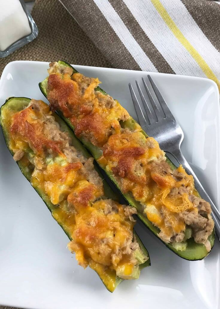 #3 Keto Tuna Melt on Zucchini