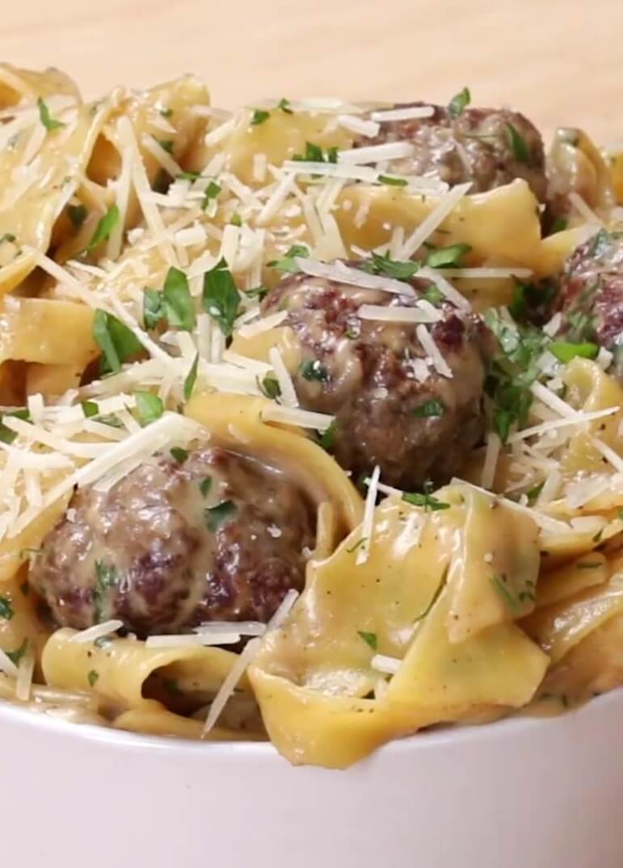 #3 One-Pot Swedish Meatball Pasta