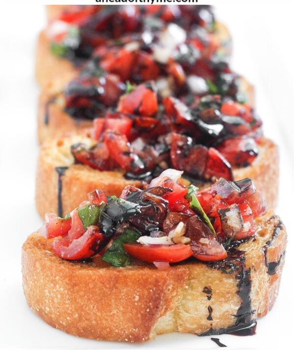 #3 Tomato Bruschetta with Balsamic Glaze