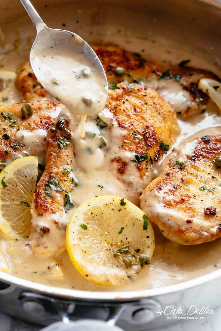 #30 Creamy Lemon Parmesan Chicken