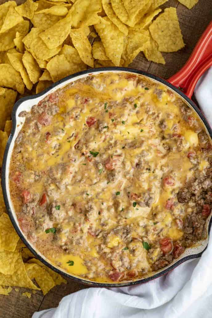 #4 Cheesy Beef Rotel Dip