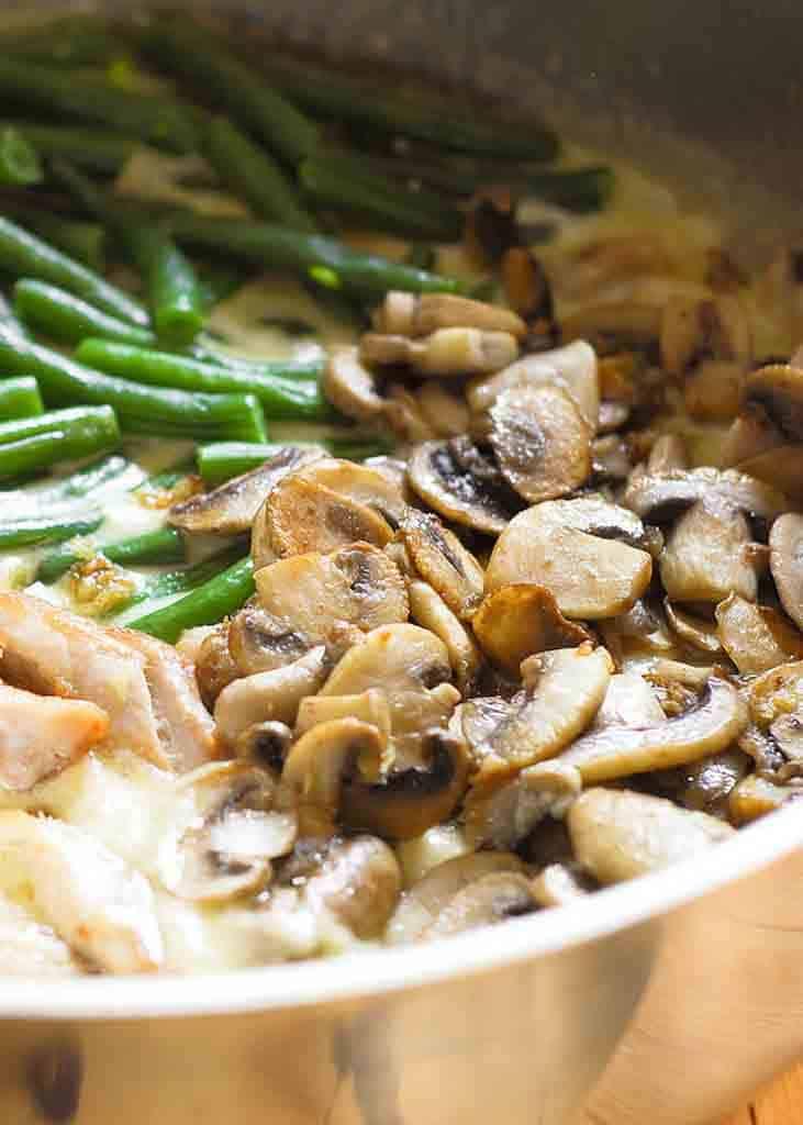 #4 Green Bean Chicken Skillet with Mushrooms