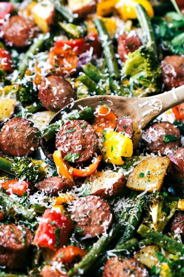 #4 Roasted Veggies with Sausage and Herbs