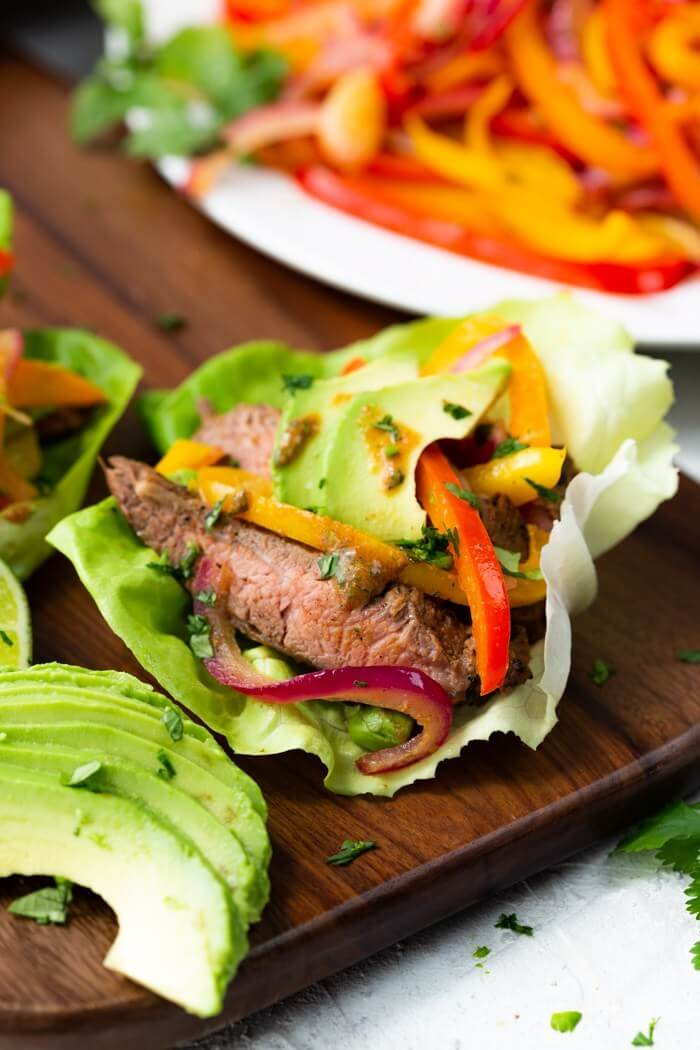 #4 Steak Fajitas Lettuce Wraps
