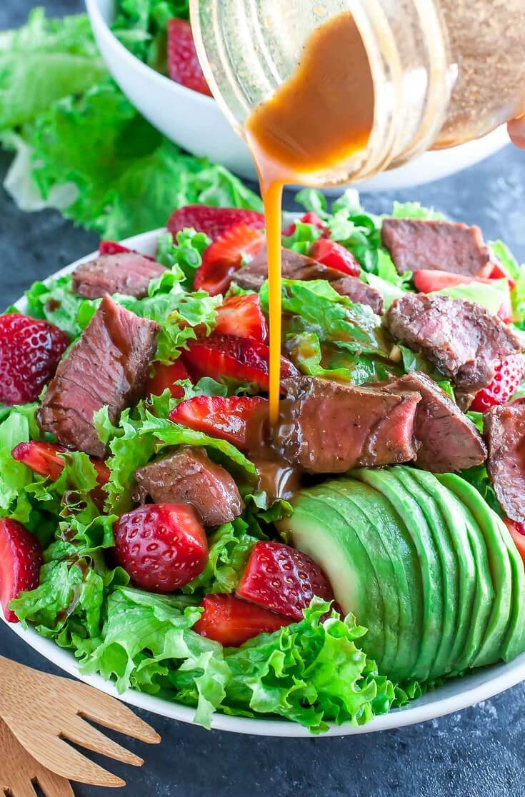 #4 Strawberry Steak Salad with Balsamic Dressing
