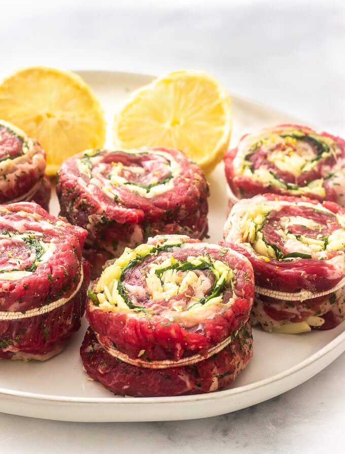 #4 Stuffed Flank Steak Rolls