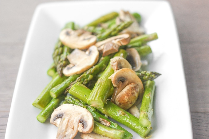 4. Roasted Garlic Asparagus and Mushrooms