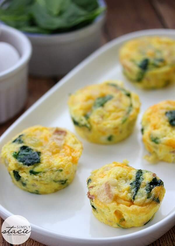 4. Spinach & Cheese Egg Muffins