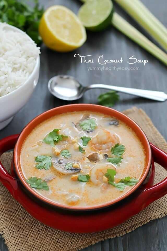 4. Thai Coconut Mushroom Shrimp Soup
