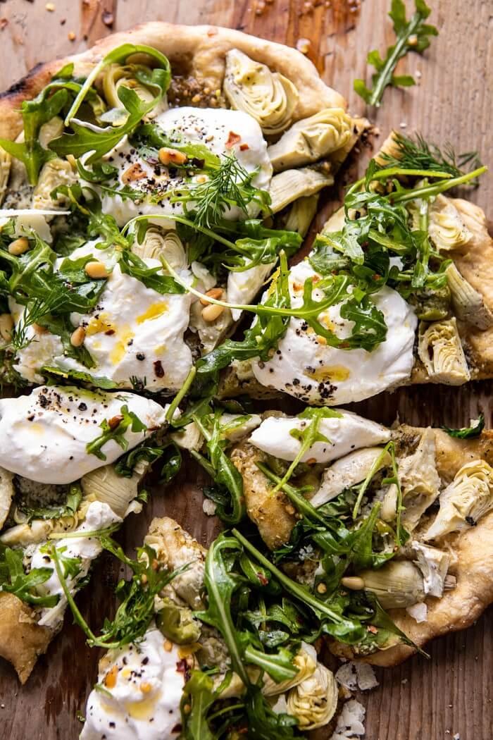 #5 Artichoke Pesto and Burrata Pizza
