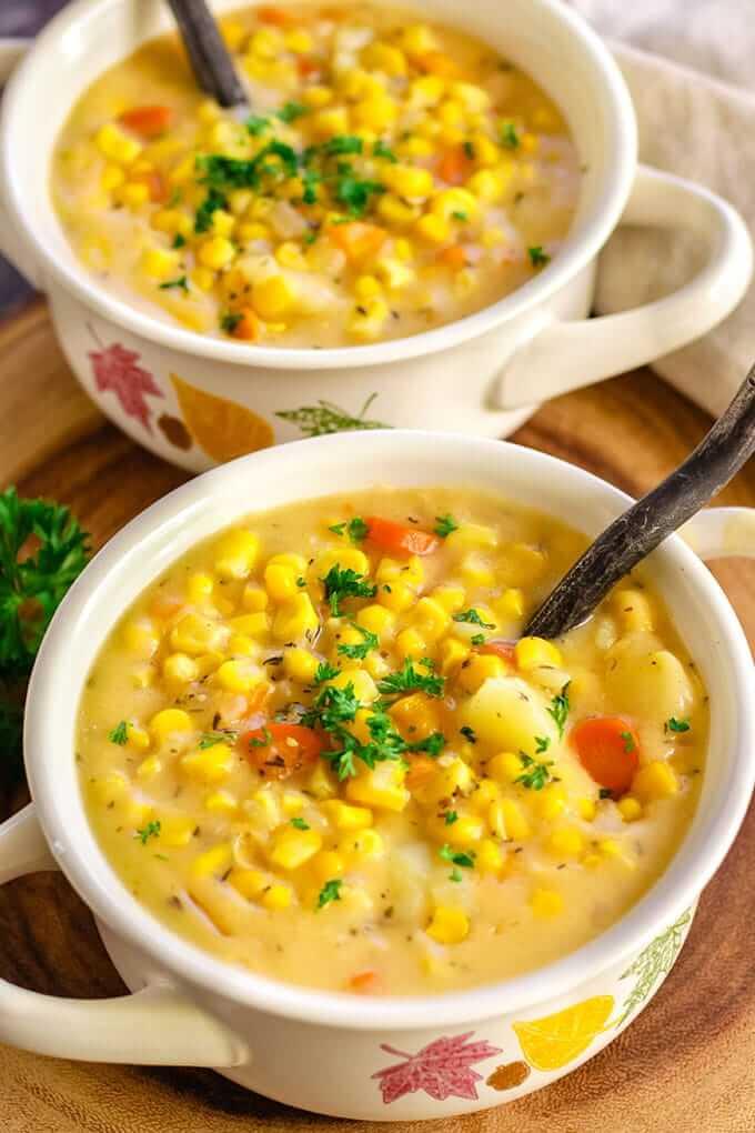 5 Instant Pot Corn Chowder