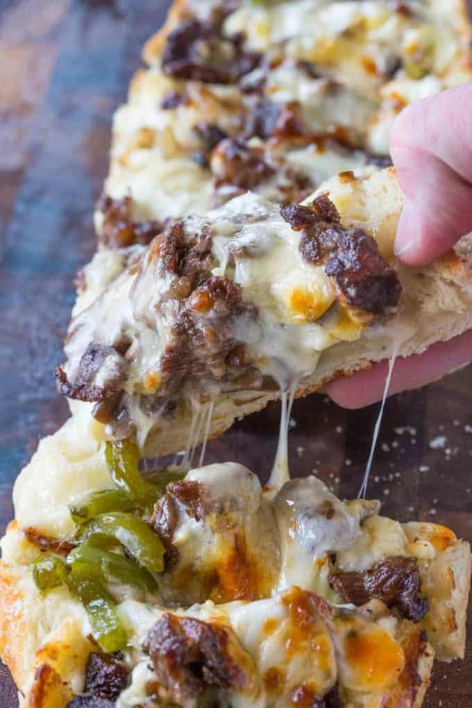 5 Philly Cheesesteak Cheesy Bread