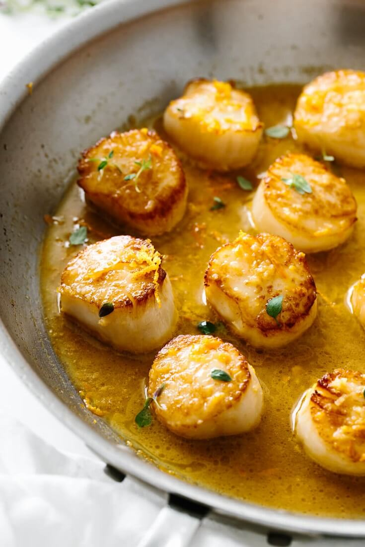 5 Scallops with Citrus Ginger Sauce
