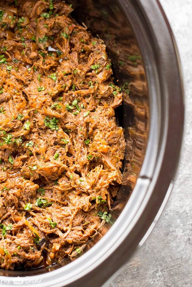 5 Slow Cooker Mexican Shredded Beef