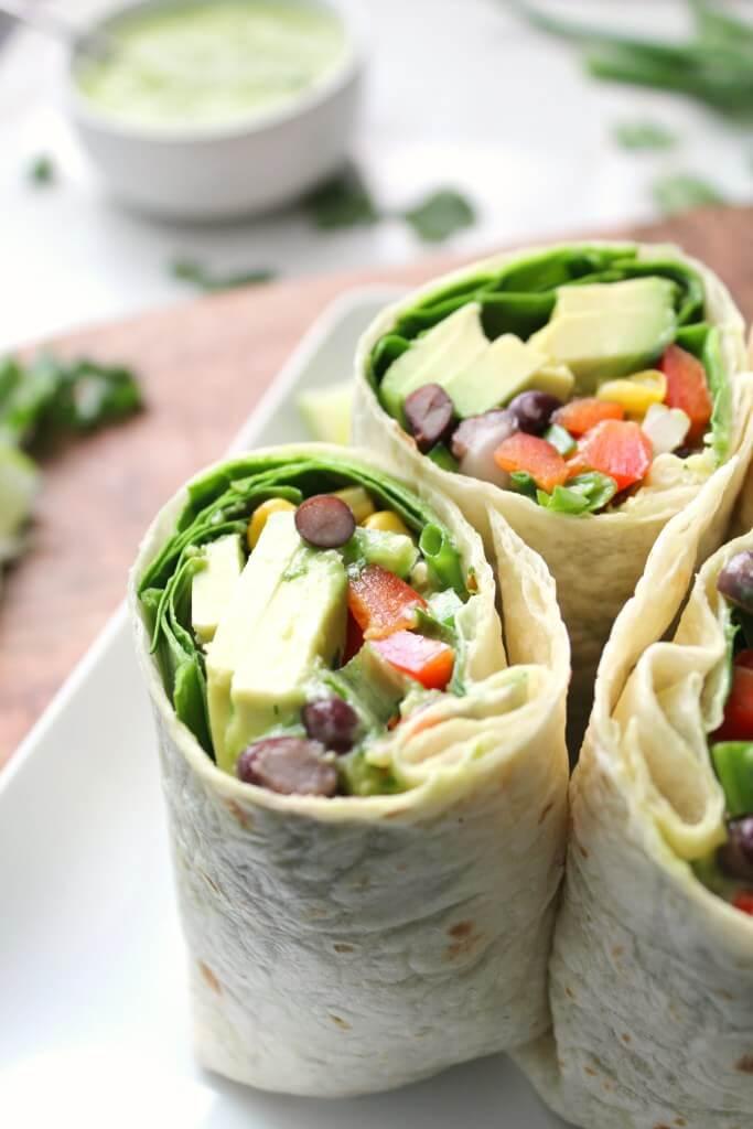 #5 Vegan Mexican Salad Wraps