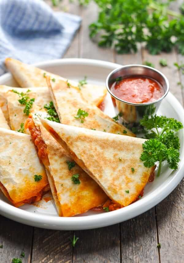 5. Pizza Quesadillas
