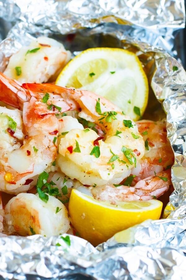 #6 Baked Shrimp Scampi Foil Packets