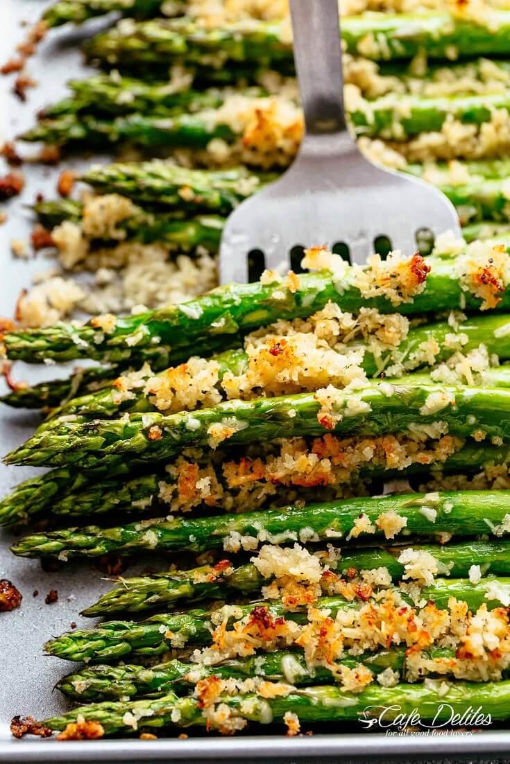 #6 Crispy Roasted Parmesan Asparagus