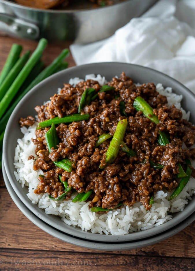 6 Mongolian Ground Beef