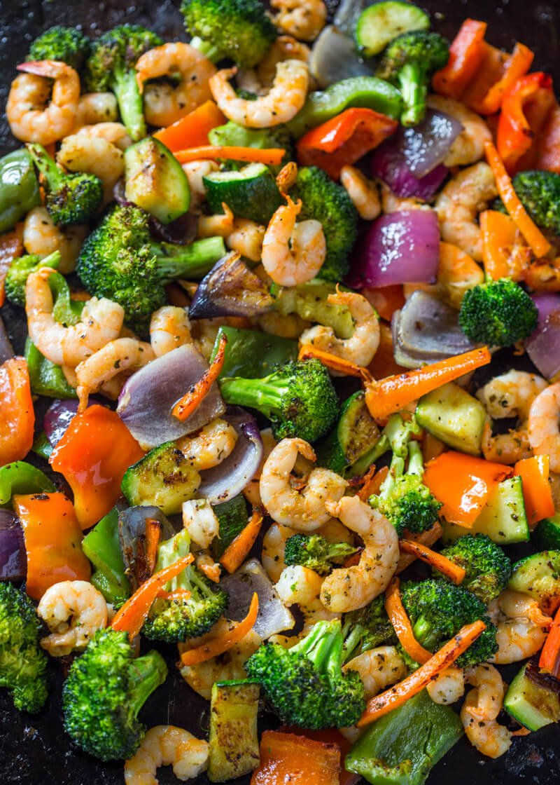 #6 One Pan Roasted Shrimp and Veggies