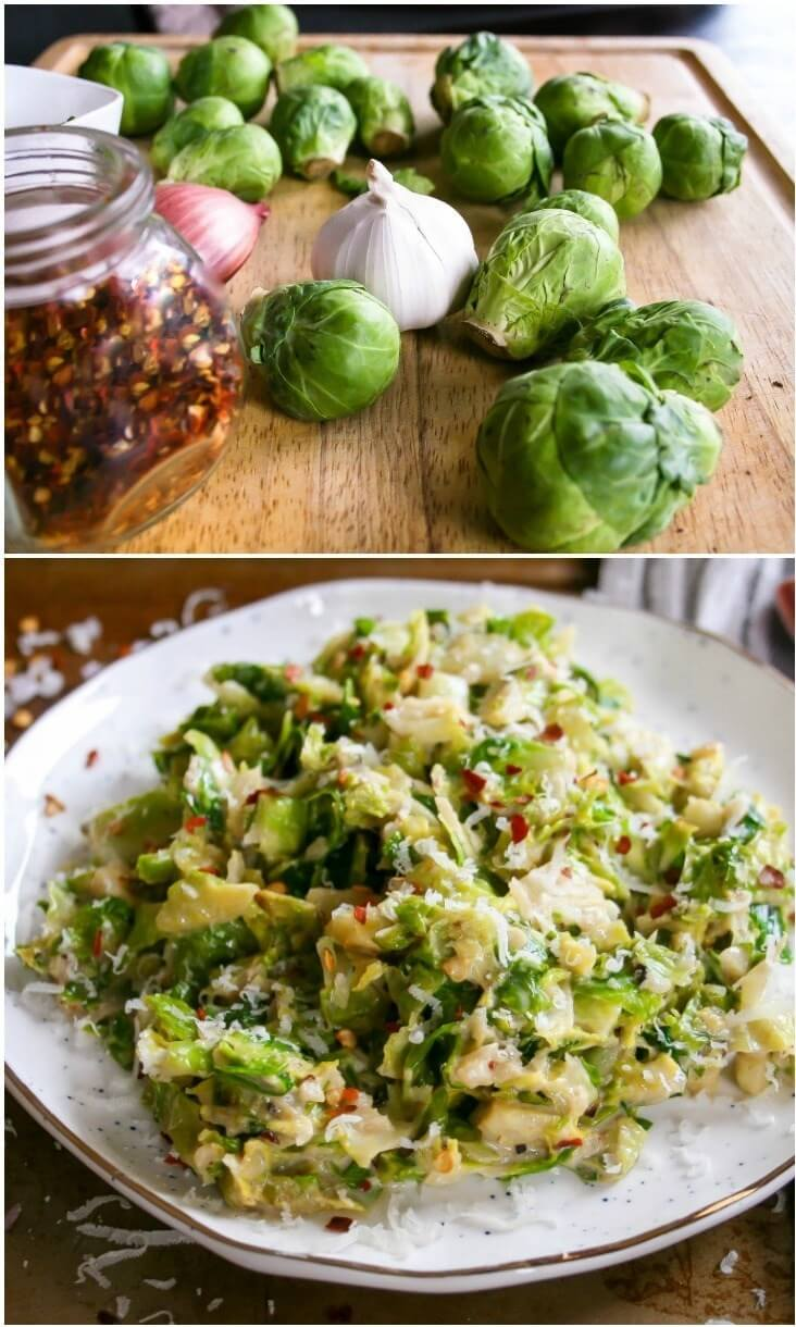 #6 Spicy Chopped Brussel Sprouts