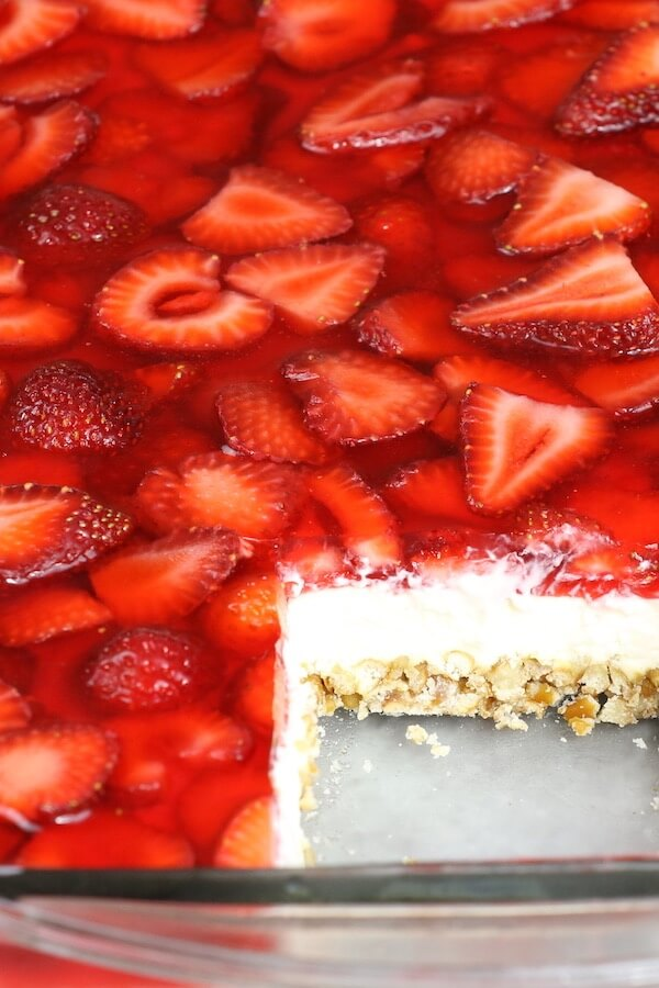 6 Strawberry Pretzel Salad