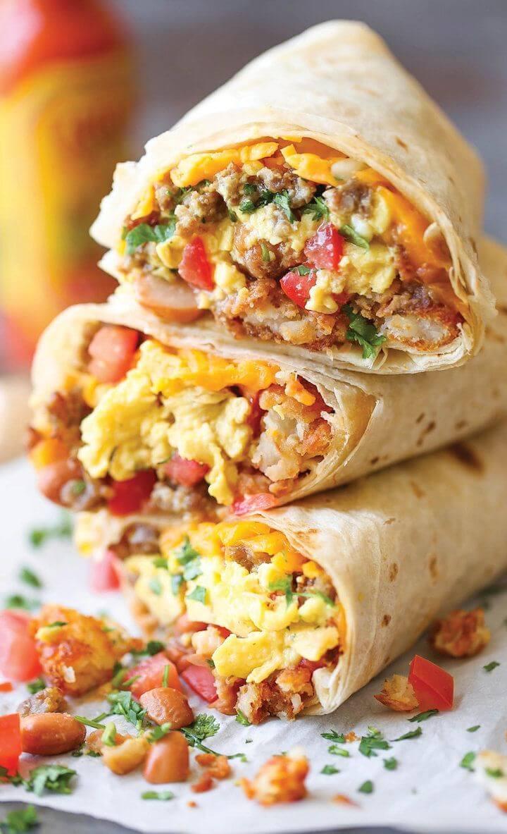 6. Breakfast Burritos