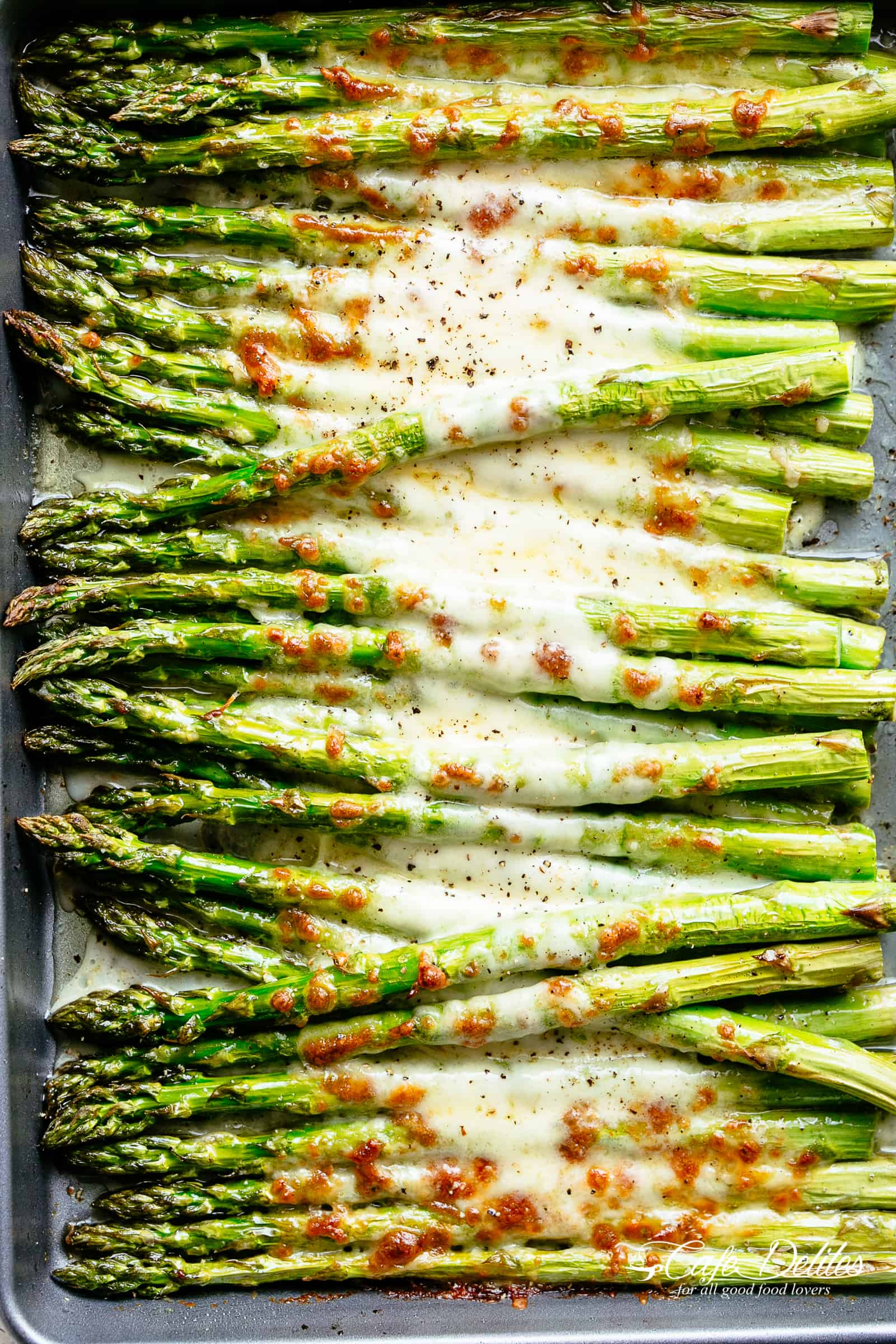 6. Cheesy Garlic Roasted Asparagus