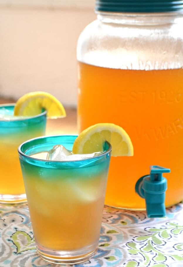 6. Iced Green Tea with Coconut Water