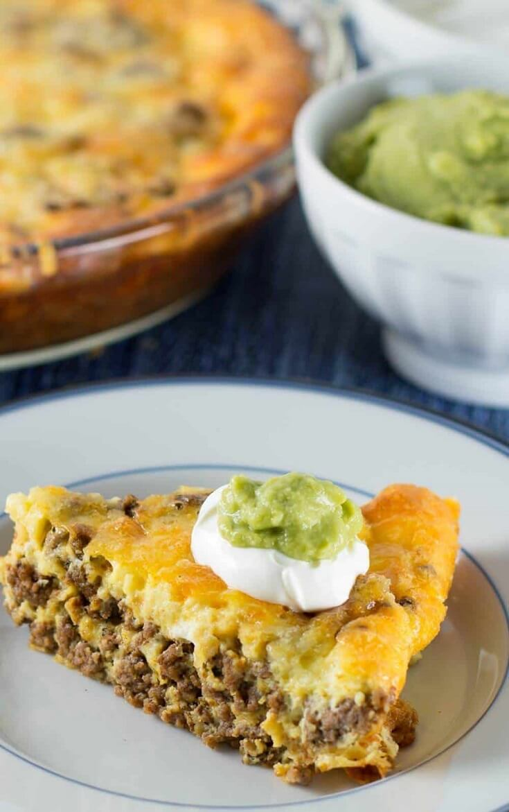 #7 Crustless Low-Carb Taco Pie
