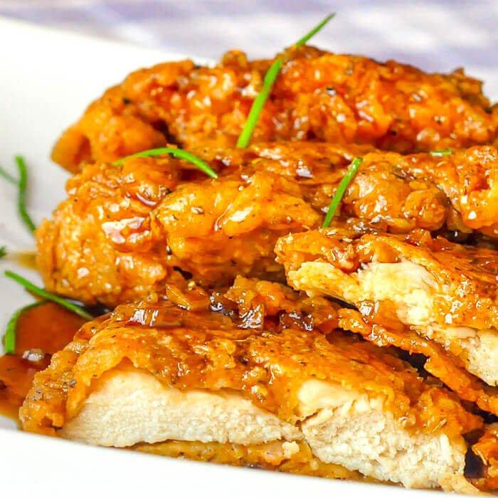 #7 Doauble Crunch Honey Garlic Chicken Breasts