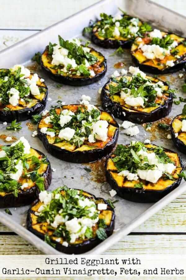 #7 Grilled Eggplant with Garlic-Cumin Vinaigrette, Feta, and Herbs