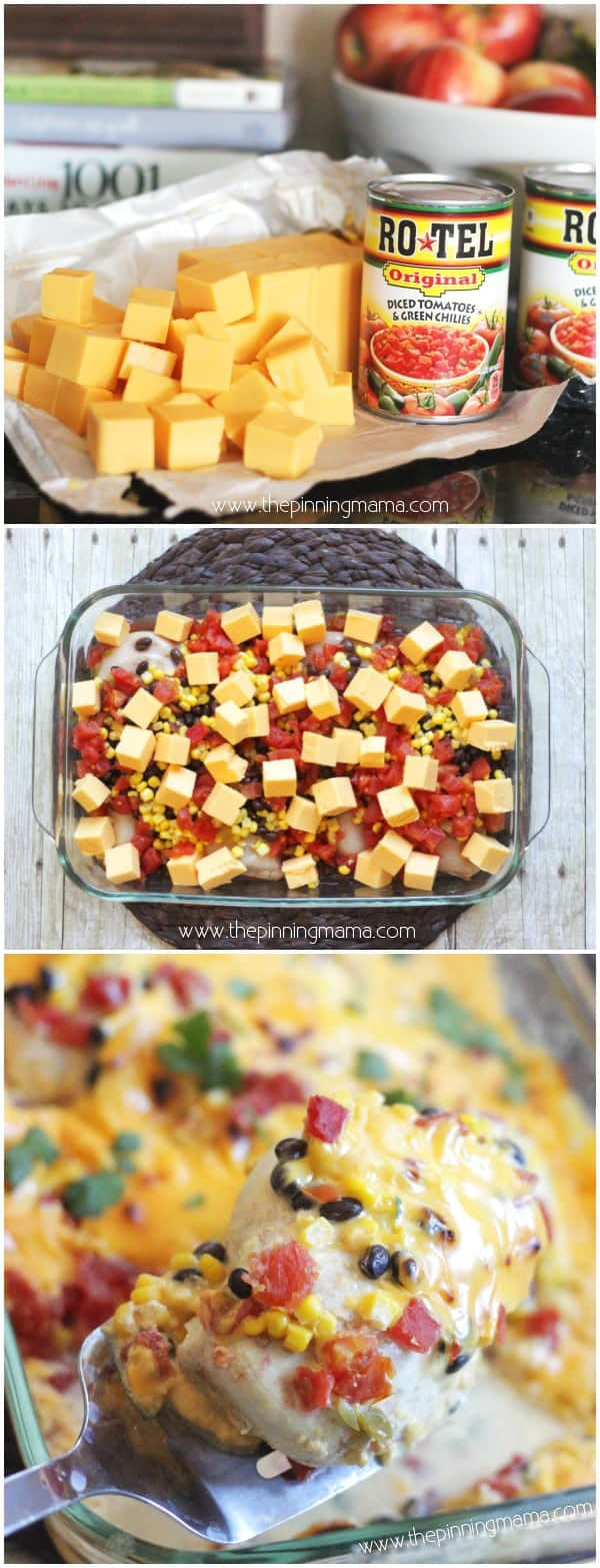 7 One Dish Queso Chicken Bake