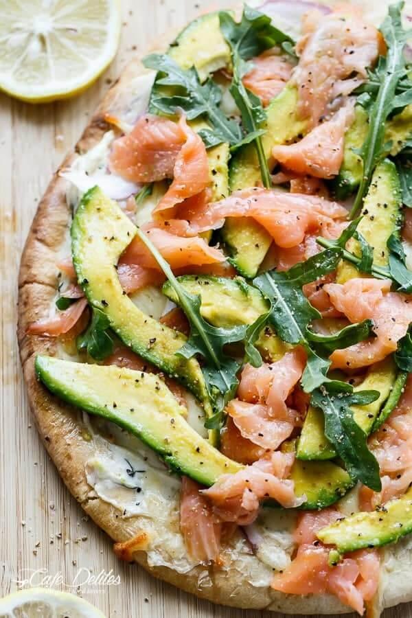 #7 Smoked Salmon and Avocado Pizza#7 Smoked Salmon and Avocado Pizza