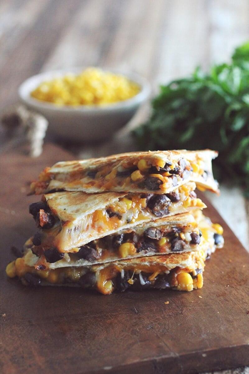 7. 10-Minute Black Bean & Corn Quesadillas