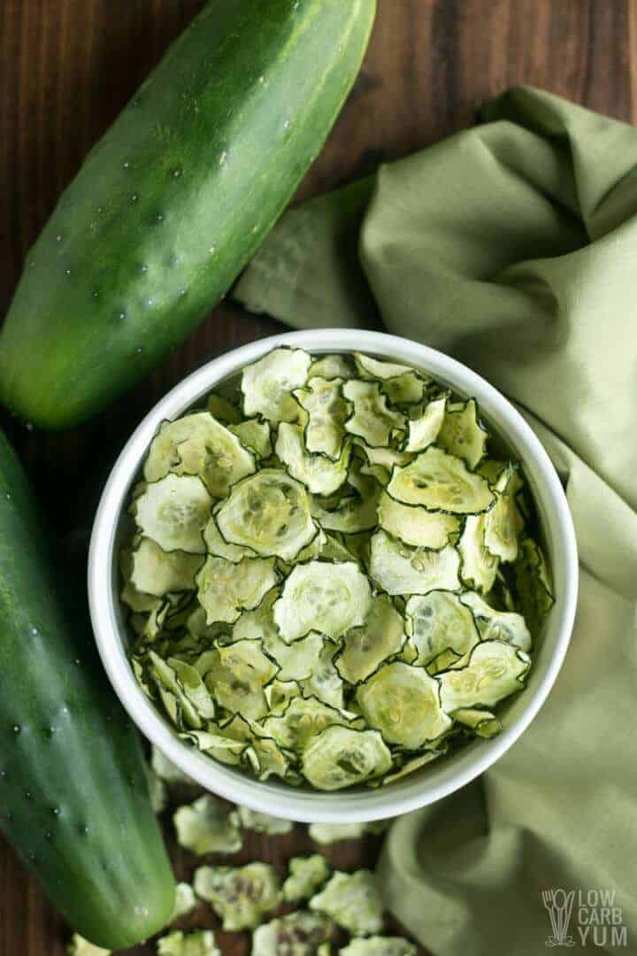 7. Baked Cucumber Chips
