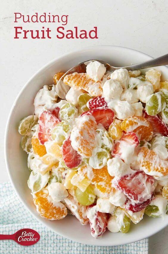 7. Pudding Fruit Salad Cup