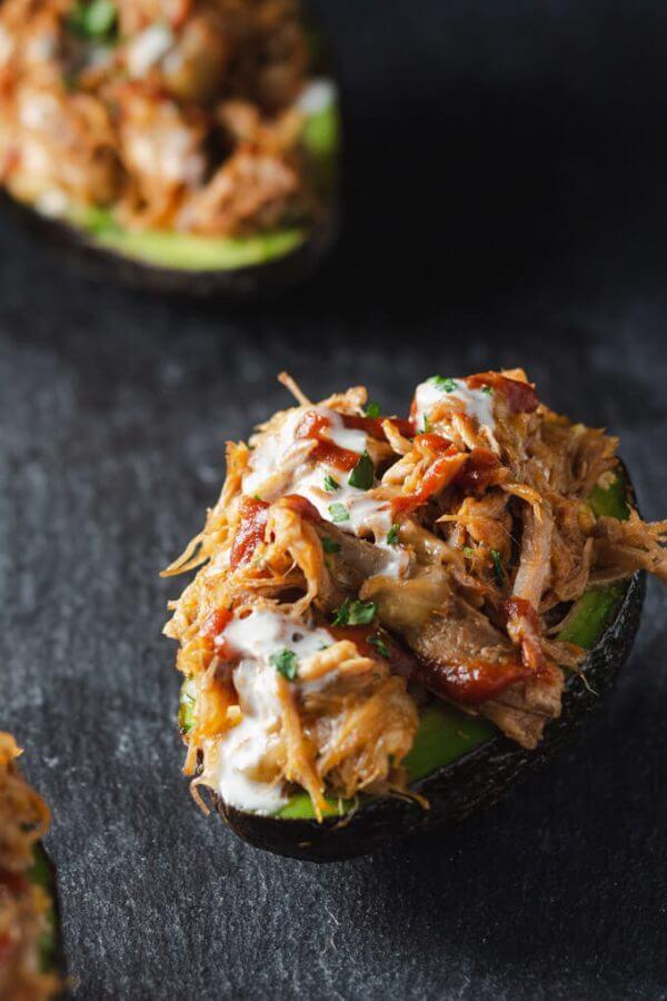 7. Pulled Pork Stuffed Avocado Boats
