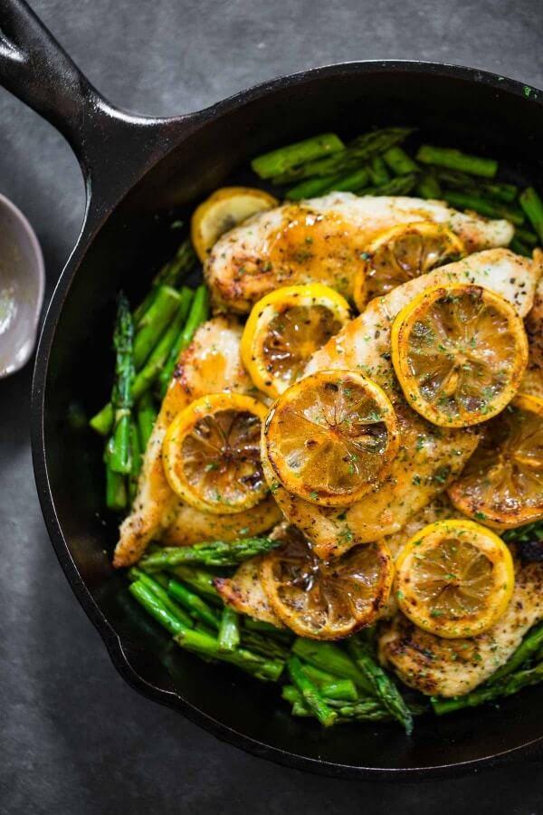 #8 5-Ingredient Lemon Chicken with Asparagus