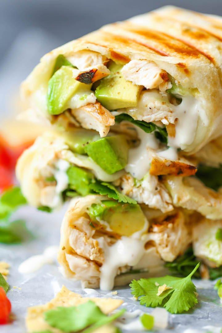 #8 Chicken and Avocado Ranch Burritos