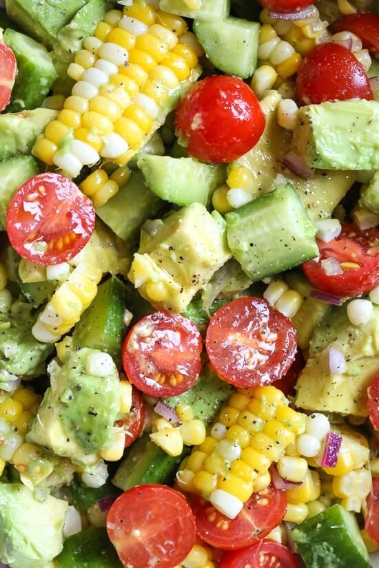 8 Corn Tomato Avocado Salad