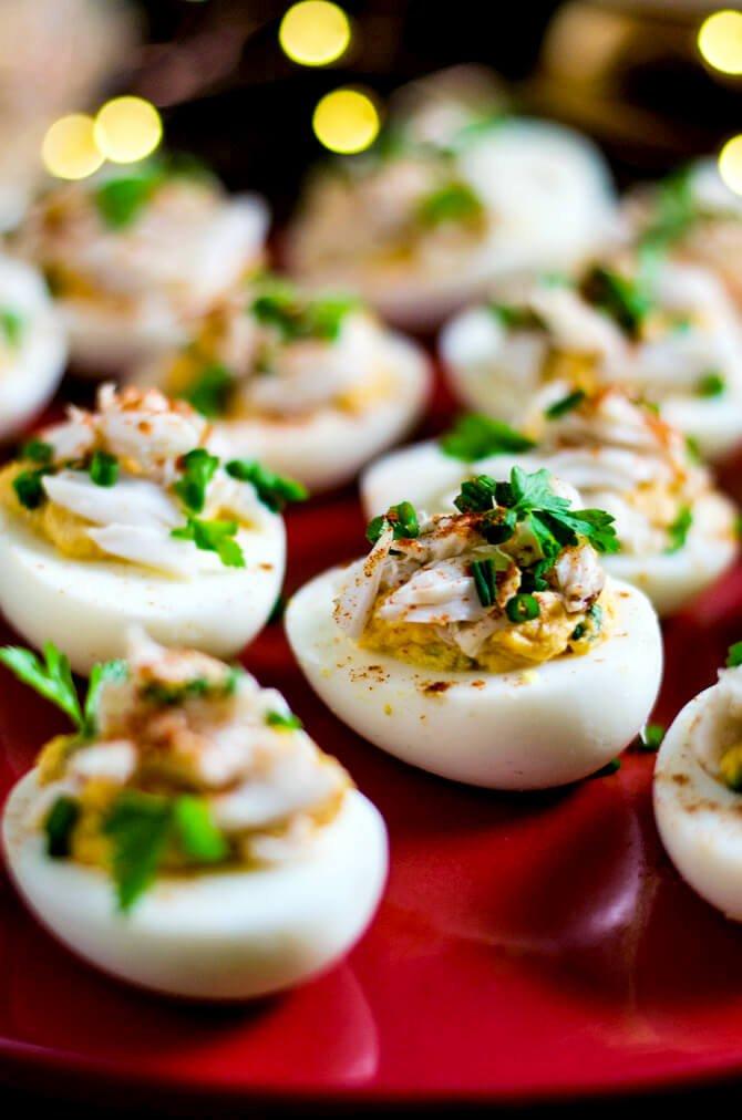#8 Crab Deviled Eggs
